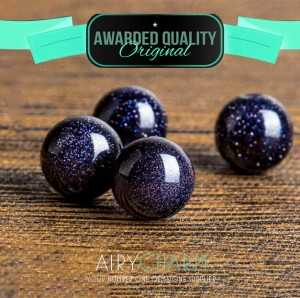 Blue Sandstone Loose Beads