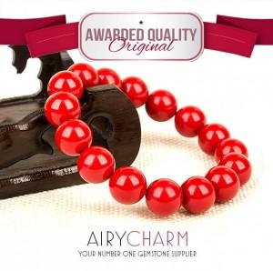 Red Cinnabar Bead Bracelet