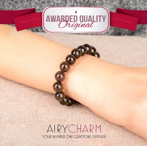 Smoky Quartz Bead Bracelet