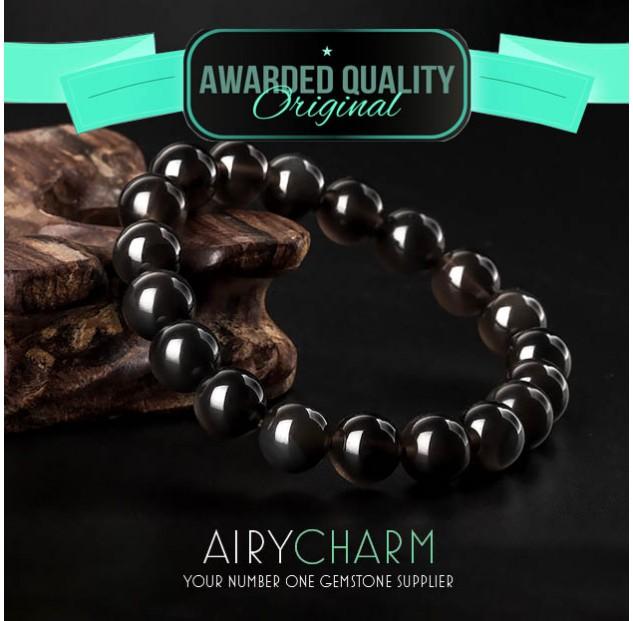 Obsidian Beads Bracelet