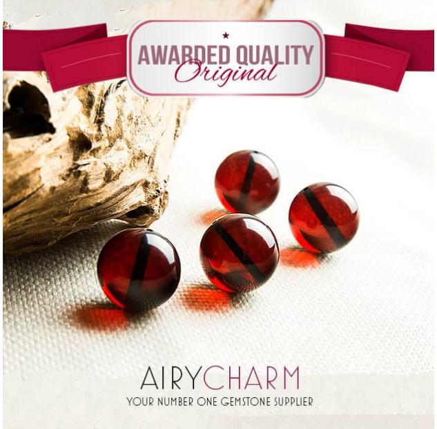 Blood Amber Loose Beads