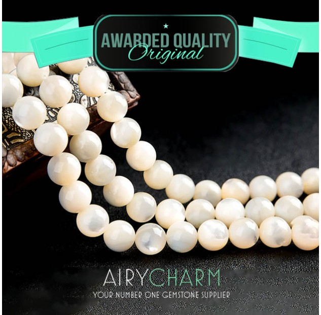 Clam Pearl Bead Bracelet
