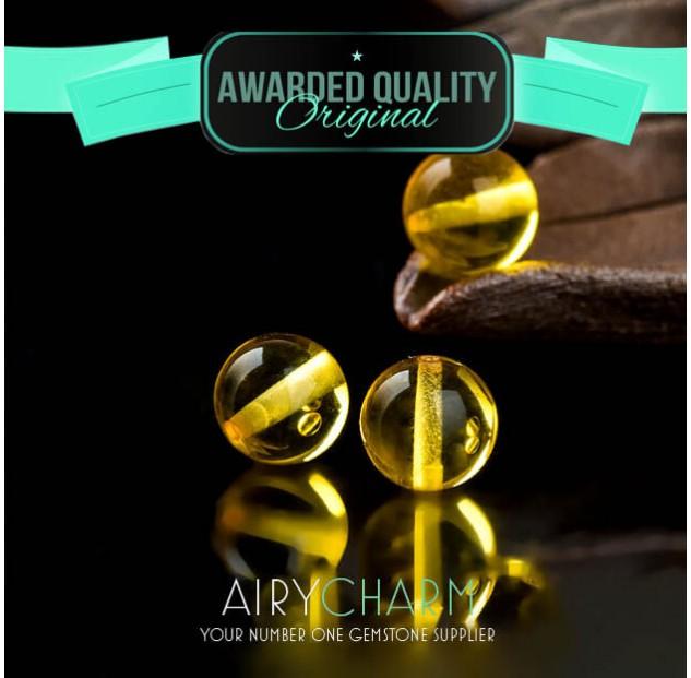 Golden Amber Loose Beads