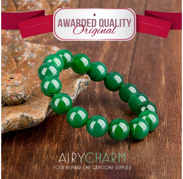 Green Agate Bead Bracelet