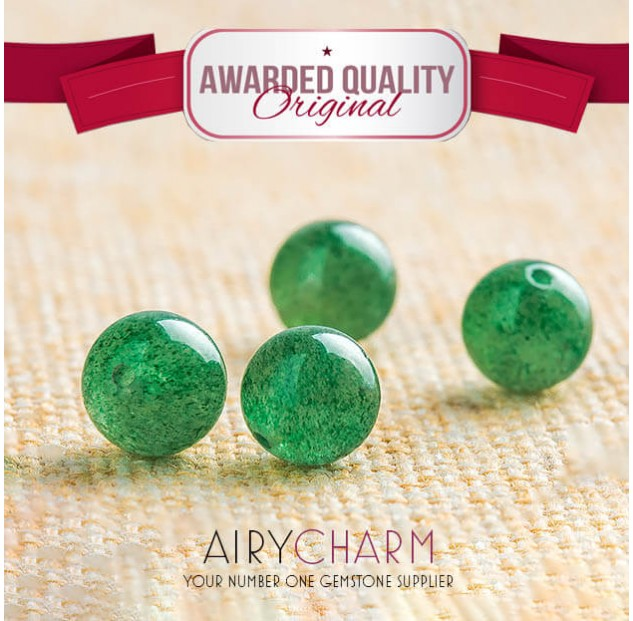 Green Strawberry Quartz Loose Beads