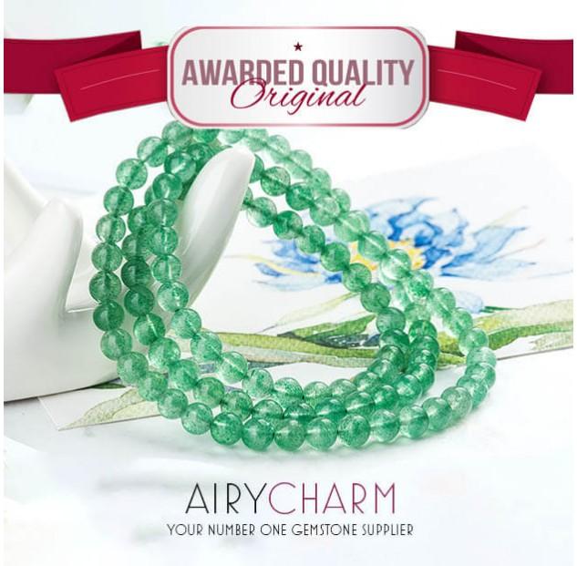 Green Strawberry Quartz Bead Necklace