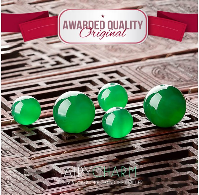 Green Agate Loose Beads