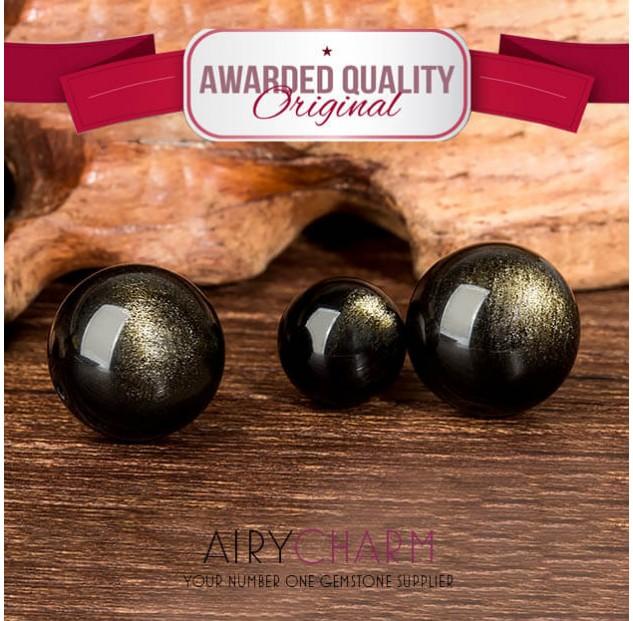 Obsidian Cat's Eye Loose Beads