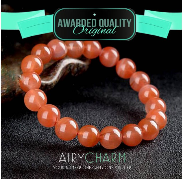 Southern Red Agate Bead Bracelet