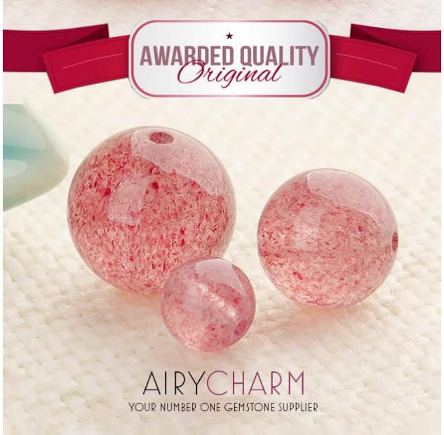 Strawberry Quartz Beads