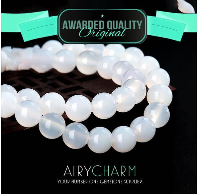 White Agate Beads Necklace