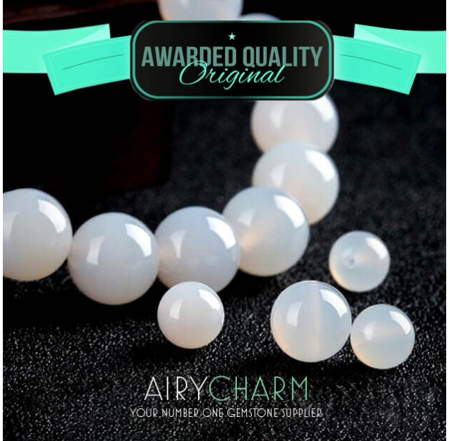 White Agate Loose Beads