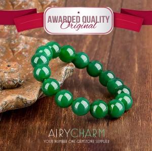Rankų Darbo Žaliojo Agato Apyrankė